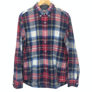 J. Crew Men's Plaid Button Down Shirt - L